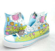 New Converse DR. SEUSS The Lorax Hi All Star Chuck Taylor Blue Green White Shoes