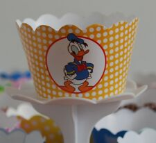 "12 kids Party ""DONALD DUCK"" Cupcake Wrappers - WORLDWIDE FREE SHIPPING"