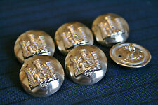 6x Devon and Dorset Regiment Military Army Gold Buttons 25mm