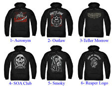 Authentic Sons Of Anarchy Adult Men Pull Over Hoodie S-3XL Sweater Sweat Shirt