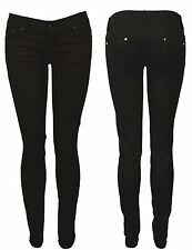 New Womens Ladies Stretch Black Slim Skinny Denim Jeans Size 6-14