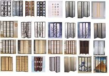 4 & 3 Panel Folding Wood Screen Divider Shoji Room Paper Screen Panels Brand New