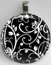 Handmade Interchangeable Magnetic Black and White Patterns #28 Pendant Necklace