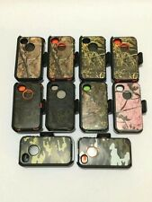 iphone 4/4s tree camo rugged defender case cover built in screen &belt clip new