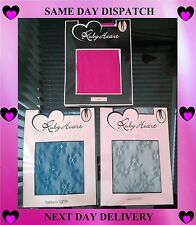 Ruby Heart Tights & Footless Tights in Hot Pink, Blue or Grey Flower Patterned