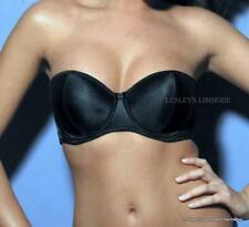 BERLEI STRAPLESS MULTIWAY BRA NUDE OR BLACK SILKY SATIN UNDERWIRED PADDED BNWT