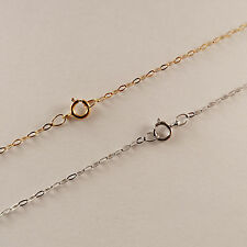 """9ct Solid Yellow or White Gold Trace Chain Necklace 16"""",18"""",20"""" *Free Delivery!*"""