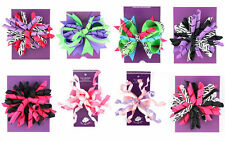 Boutique Zebra Korker Hairbow NWT * Rockstar Birthday Party or Pageant * U PICK