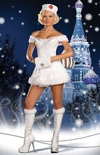 SEXY Halloween Womens 4pc White Russian Beauty fur costume 5892 Dreamgirl NEW!