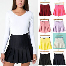 American Apparel Style Pleated Tennis Skirt Sizes XS-L