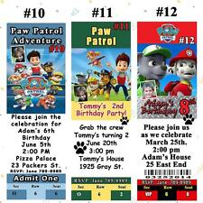 Paw Patrol Birthday Invitations Thank You Cards Address Labels Personalized