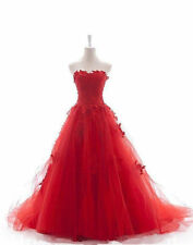 2014 New Red Sweetheart Off the Soulder Wedding Dresses Bridal Gown Custom Made