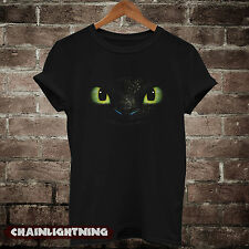 toothless shirt from how to train your dragon tshirt tee black S M L XL C14