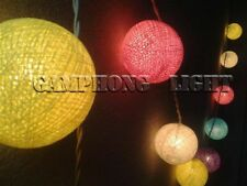 20 or 35 Cotton Ball String Lights, Lamp, Home Decoration, Hanging wall, Candy T