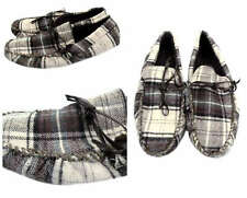 ZARA Mens Beige Check Grandad Style moccasin slippers - NEW- RRP £24 - Bargain