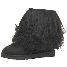 Ugg Australia Womens Short Boots Sheepskin Cuff Black 4.5 - 6.5 UK RRP 254.99£