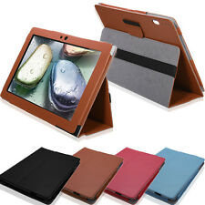 "PU Leather Flip Folio Case Cover Stand For 10.1"" Lenovo Ideatab S6000 Tablet"