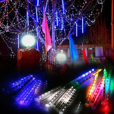 Meteor Shower Falling Icicle 8 Tube LED Christmas Tree Garden String Light Lamps