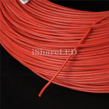 3~100m 8/10/12/14/16/18/20/22/24/26 AWG flexible Red Silicone Wire Cable Max600V