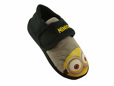 KIDS NOVELTY MINION DESPICABLE ME CHARACTER CARTOON SLIPPERS UK INFANT 6-12 NEW