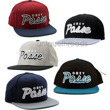 Men's OBEY POSSE SNAPBACK HAT Cap