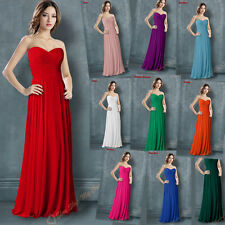 Hot Bridesmaid Dress Evening Formal Party Ball Gown Prom Chiffon Dress Size 6-16