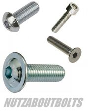 Nut Bolt and Washer 4 Pack A2 stainless socket cap/button Dome & countersunk csk