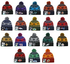 NFL FOOTBALL TEAM BEANIES New Era SNOWBURST Snowflake 2014 Pom Beanie Cap Hat