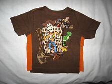 """Disney-Brown T Shirt with Toy Story Andy and """"We're Andy's Toys"""" on Front"""