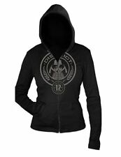 The Hunger Games Catching Fire Mockingjay District 12 Seal Hoodie S or M
