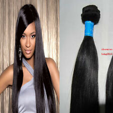 very soft 100% Brazilian Straight Virgin Human Hair Extensions Real Remy Natural