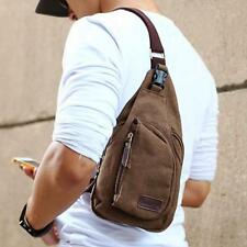Men Canvas Shoulder Wallet Messenger Waist Pack Belt Bag Pouch Travel Hip Purse