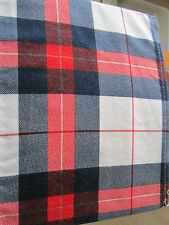 Warm Winter Flannel Sheet Set Plaid r Queen Size Red, White and Blue NIB