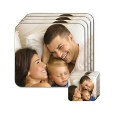 Personalised Photo Hardwood Coasters Your Custom Picture or Text Printed!
