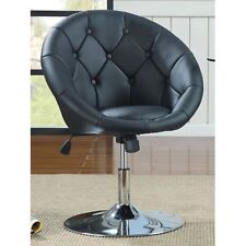 Button Swivel Chair Tufted Round Back Computer Gaming Bar Stool Desk Furniture