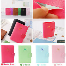 Sweet Girls Bowknot Crown Buckles E-Passport Protect Cover Passport Case Holder