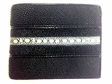NEW HQ GENUINE STINGRAY LEATHER VERY RARE ROW PERL WALLET,BI-FOLD ,CARD HOLDER
