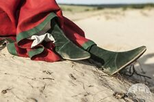 """Medieval Footwear , Woman's Fantasy Suede Boots """"The Alchemist's daughter"""""""