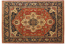 INDIAN HAND KNOTTED HERIZ SERAPI PERSIAN ORIENTAL AREA RUGS WOOL CARPET TEPPICH