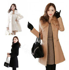 Hot Women Slim Wool Popular Warm Trench Parka Double-Breasted Winter Coat Jacket