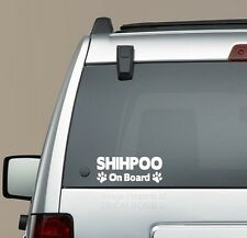 Shihpoo On Board Paw Print decal sticker -  puppy kennel poodle Shih Tzu  mix