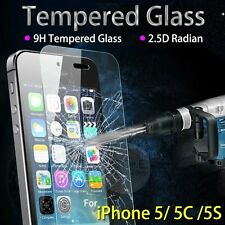 Premium Real Tempered Glass Screen Protector Film Guard fit iPhone 5,5S,5C IP89