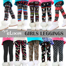 The Elixir Beauty Girls Winter Warm Leggings Fleece Lined Kids Trousers Pants