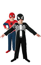 CHILD REVERSIBLE #SPIDERMAN COMPLETE OUTFIT MARVEL SUPERHERO FANCY DRESS 2 SIZES