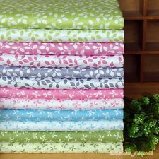 12 Assorted Leaf & Bow Pre-Cut Charm Cotton Quilt Fabric Square or By the Yard