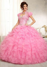 Pink Ball Gown Formal Party Prom Gown Quinceanera Dress Bridal Wedding Dress