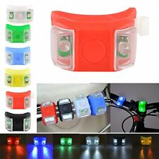 2x Silicone Bike Bicycle Rear Wheel Double LED Flash Light  multicolor Frog LED