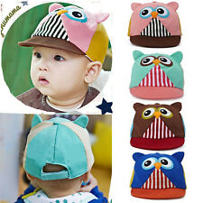 Toddler Kid Children Baby Boy Girls Cotton Owl Hat Baseball Sun Peaked Cap Visor