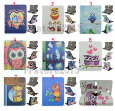 "UltraThin 360 Rotating Cute Cartoon Owl Leather Case Cover For 7"" Various Tablet"