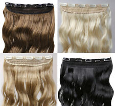 Synthetic One Pcs Clip In Hair Extensions 3/4 Full Head Curly/Straight Weft
